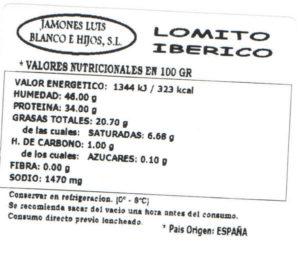 Lomito iberico