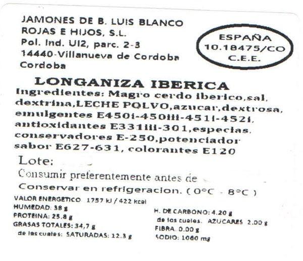 Longaniza iberica 2